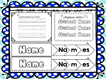 Handwriting Name Bundle {Editable}