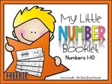 Handwriting Number Booklets {#'s 1-10)