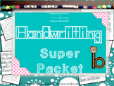 Handwriting Packet- writing practice and lower case letter