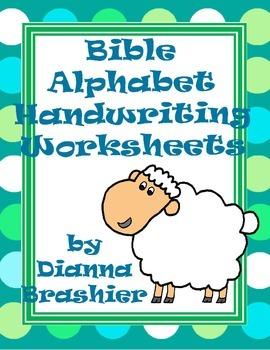 Alphabet Christian Theme Handwriting Worksheets