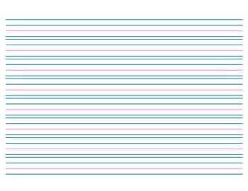 Handwriting Paper, no Header - 8 rows - Landscape