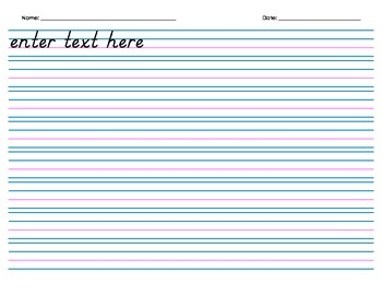 Handwriting Paper, with Header (Electronic Form) - 8 rows