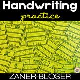 Handwriting Practice A-Z NO PREP Print and Go Zaner-Bloser