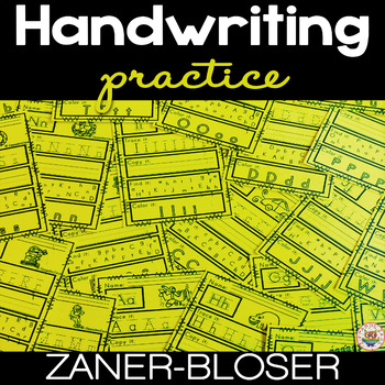 Handwriting Practice A-Z - NO PREP - Print and Go - 26 Wor