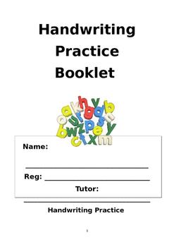 Handwriting Practice Booklet