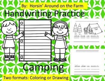 Handwriting Practice - Camping