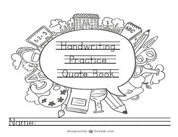 Sample Handwriting Practice Copywork Quote Book That Encou