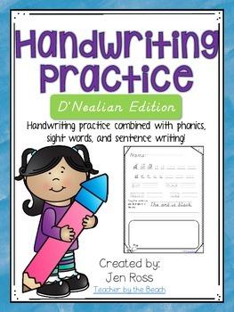Handwriting Practice {D'Nealian Edition}
