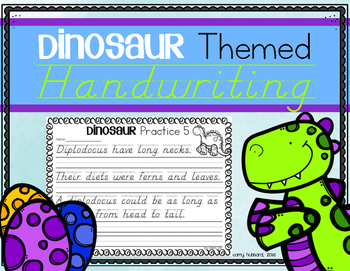 Handwriting Practice- Dinosaur Themed