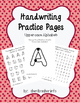 Handwriting Practice Pages - Outline Uppercase DELUXE Pack