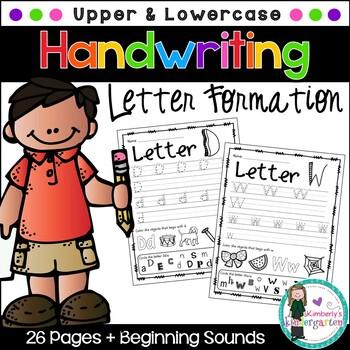 Handwriting Practice Pages, Upper & Lowercase. Seek & Find