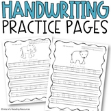 Handwriting Practice Pages, Uppercase & Lowercase (Animal