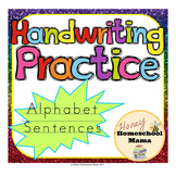 Handwriting Practice Sheets - Alphabet Sentences for Begin