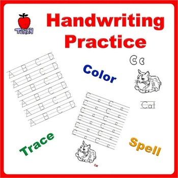 Handwriting Practice Bundle - Trace Letters, Spell Words a