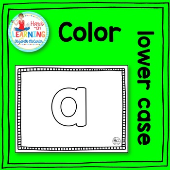 Lower Case Letter Coloring