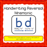 Handwriting Reversal Mnemonic: b and d