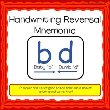 Handwriting Reversal Mnemonic: b and d