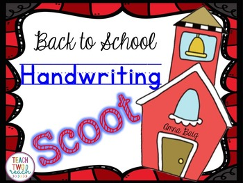 Handwriting Scoot - Back to School: Zaner Bloser and D'Nea