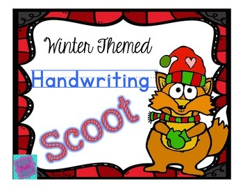 Handwriting Scoot- Winter Themed Words