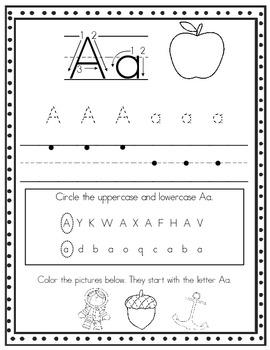 Alphabet Handwriting Sheets, Print Font