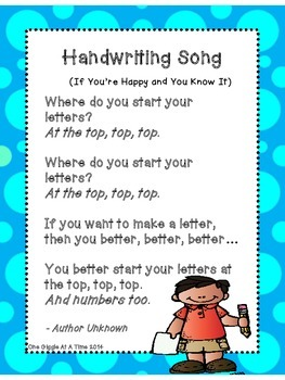 Handwriting Song