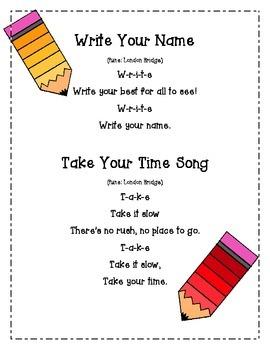 Handwriting Song and Activity