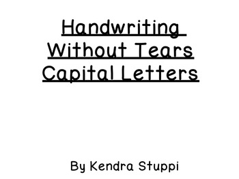 Handwriting Without Tears - Capital Letters