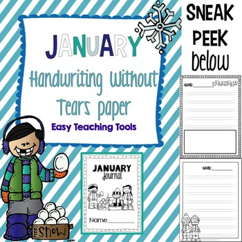 """Handwriting Without Tears Paper """"January"""" Edition"""