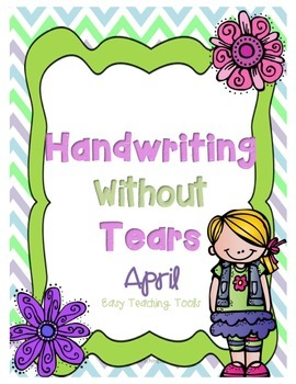 Handwriting Without Tears Writing Paper: April Edition