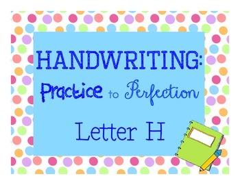 Handwriting Workbook, Letter H