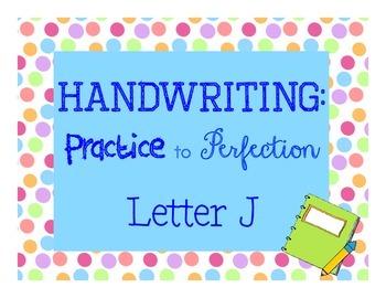 Handwriting Workbook, Letter J