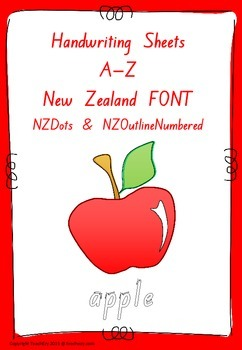 Handwriting Worksheets A to Z New Zealand font