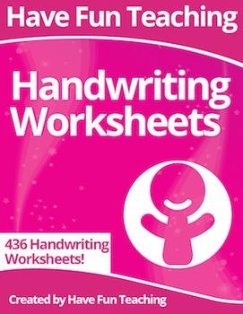 Handwriting Worksheets Super Pack (436 Handwriting Worksheets)