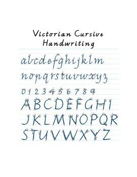 Handwriting book - victorian cursive