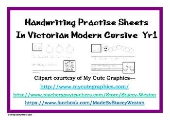 Handwriting for Year 1 - Vic modern cursive script