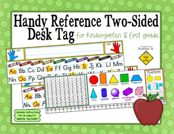 Handy Reference Two-Sided Name Tag (Desk Plate) for First Grade