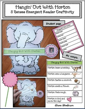 Hangin' Out With Horton: 5 Senses Emergent Reader Craftivity