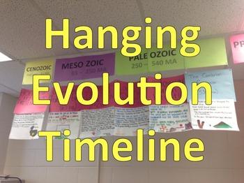 Hanging Evolution/Geologic Timeline Printable Labels and I