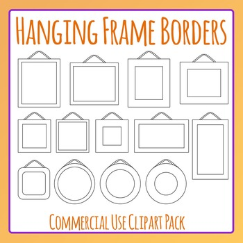 Hanging Frames Clip Art Set for Commercial Use - Great for