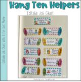 Hanging Ten Helpers -Classroom Job Chart - Editable