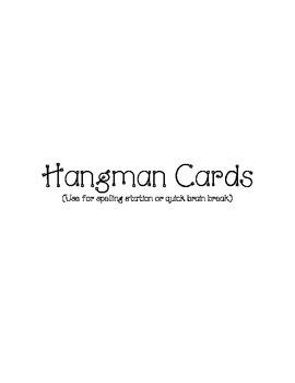 Hangman Cards