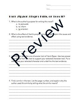 Hank Zipzer: Niagra Falls, or Does It? Assessment
