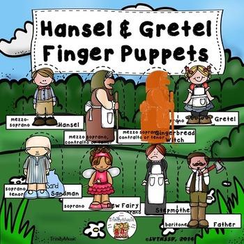 Hansel & Gretel Finger Puppets (for story retelling or act