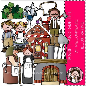 Melonheadz: Hansel and Gretel clip art - COMBO PACK