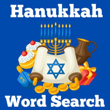 Hanukkah Activity   Hanukkah Word Search   Chanukah Activity