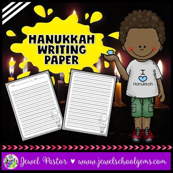 Chanukkah or Hanukkah Writing Paper