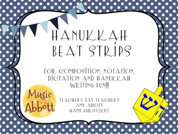 Hanukkah Beat Strips and Composition Cards for Rhythmic Practice