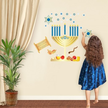 Hanukkah Interactive Wall Play Set + Downloadable Story Au
