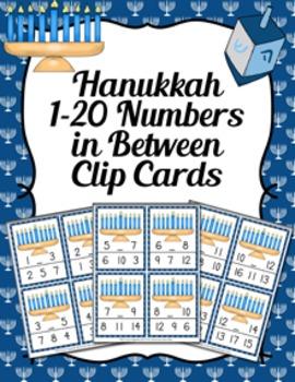 Hanukkah Numbers In Between Clip Cards
