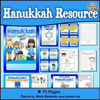 Hanukkah Resource Pack For Elementary Classrooms
